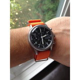 Extra Long Premium NATO strap Orange - Cheapest NATO Straps  - 3