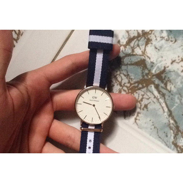 Premium Original NATO Strap Navy and White - Cheapest NATO Straps  - 4