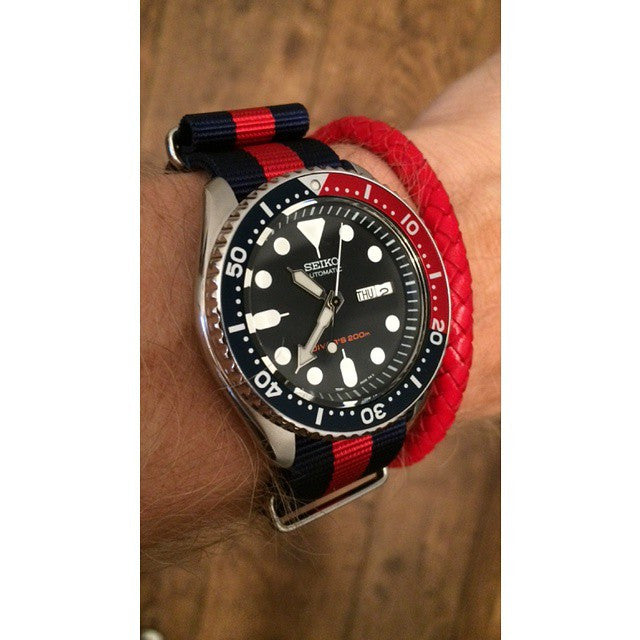 Extra Long Premium NATO strap Navy and Red - Cheapest NATO Straps  - 9