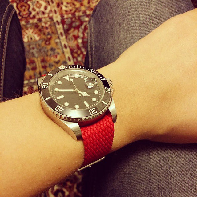 Perlon strap red - Cheapest NATO Straps  - 7