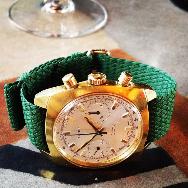 Gold Perlon strap green - Cheapest NATO Straps  - 4