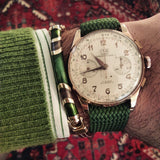 Gold Perlon strap green - Cheapest NATO Straps  - 3