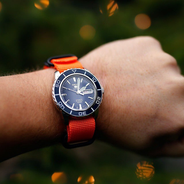 Extra Long PVD Zulu Strap 5-ring Orange - Cheapest NATO Straps  - 9