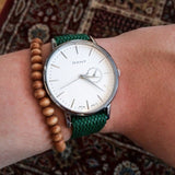 Gold Perlon strap green - Cheapest NATO Straps  - 16