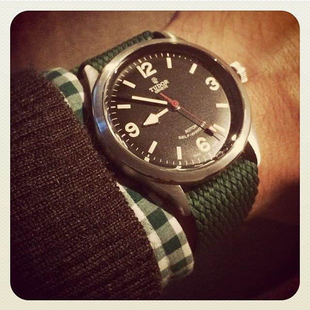 Gold Perlon strap green - Cheapest NATO Straps  - 7