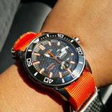 Extra Long Zulu strap SS 5-ring Orange - Cheapest NATO Straps  - 4