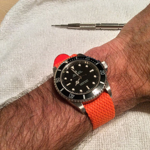 Gold Perlon strap orange - Cheapest NATO Straps  - 6