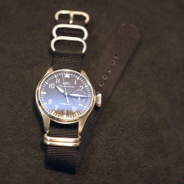 Extra Long Zulu strap SS 5-ring Black - Cheapest NATO Straps  - 4