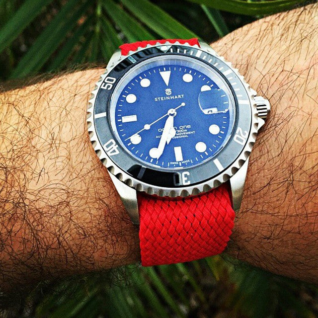 Gold Perlon strap red - Cheapest NATO Straps  - 5