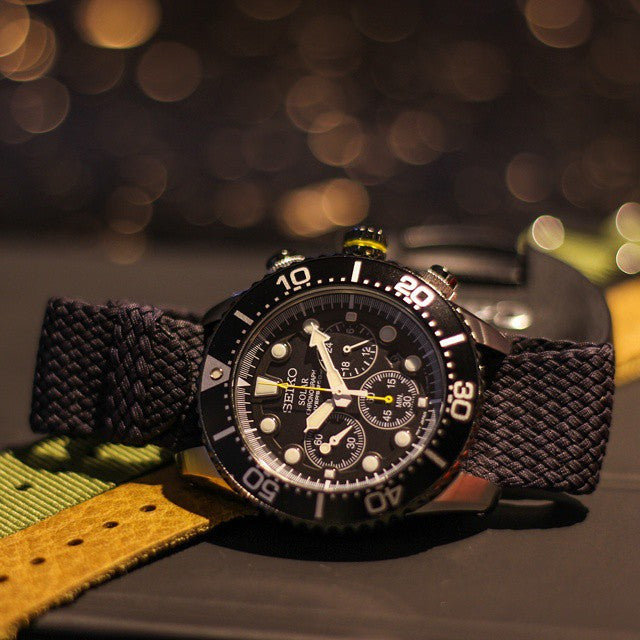 Gold Perlon strap dark brown - Cheapest NATO Straps  - 7