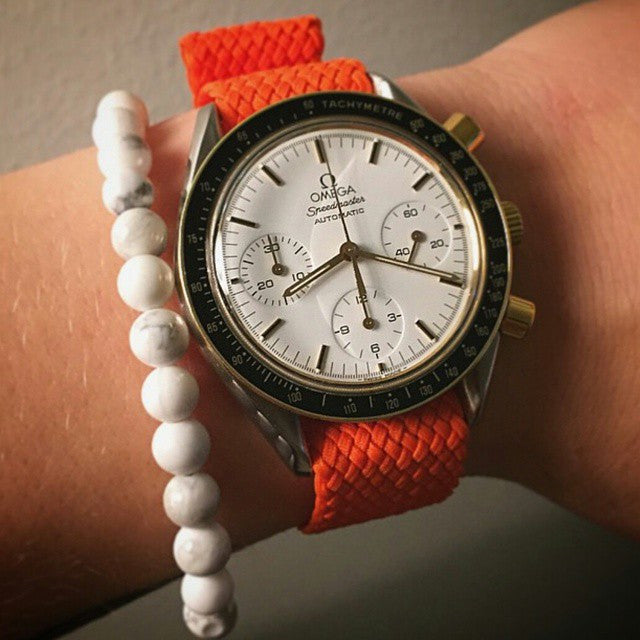 Gold Perlon strap orange - Cheapest NATO Straps  - 4