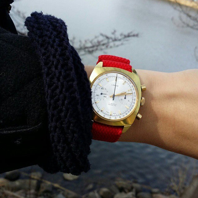 Gold Perlon strap red - Cheapest NATO Straps  - 4