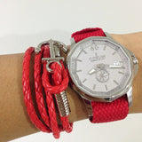 Gold Perlon strap red - Cheapest NATO Straps  - 3