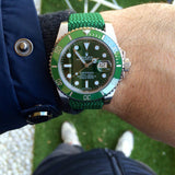 Gold Perlon strap green - Cheapest NATO Straps  - 12