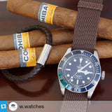 Gold Perlon strap brown - Cheapest NATO Straps  - 4