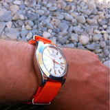 Extra Long Premium NATO strap Orange - Cheapest NATO Straps  - 4