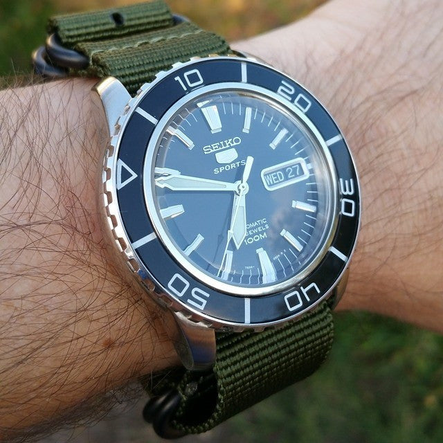 Extra Long PVD Zulu Strap 5-ring Khaki Green - Cheapest NATO Straps  - 20