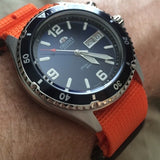 Extra Long PVD Zulu Strap 5-ring Orange - Cheapest NATO Straps  - 11