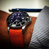 Gold Perlon strap orange - Cheapest NATO Straps  - 3