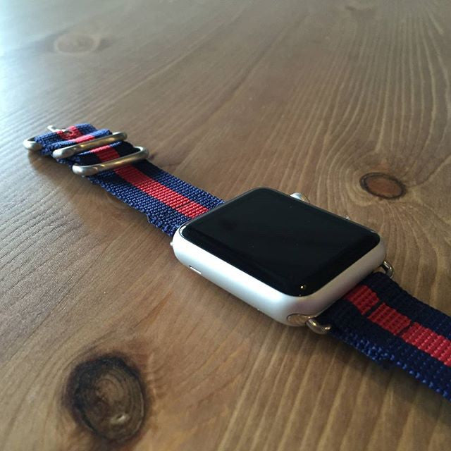Smart Watch Strap Navy and Red - Cheapest NATO Straps  - 2