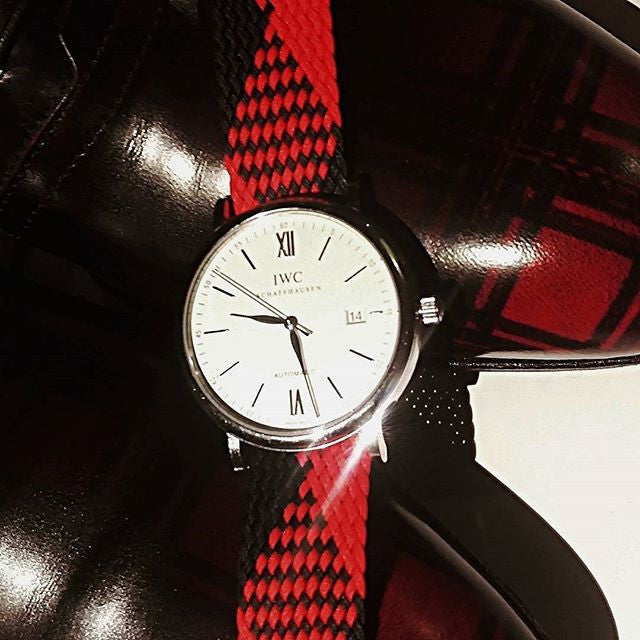 Adjustable Perlon strap Red and Black - Cheapest NATO Straps  - 2