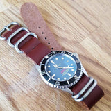 Leather SS Zulu Strap Copper Red - Cheapest NATO Straps  - 3