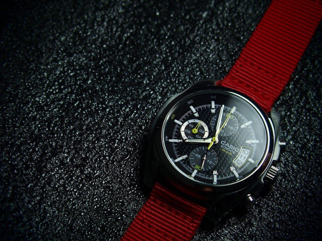 Two Piece NATO Strap Red - Cheapest NATO Straps  - 3