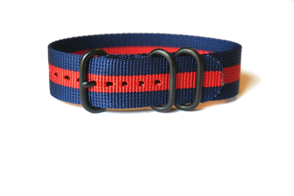 PVD Zulu Strap 3-ring Navy and Red - Cheapest NATO Straps