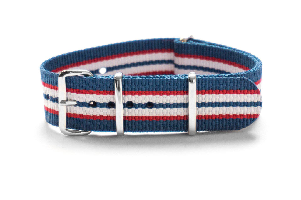 NATO Regimental Strap Australia, Blue, Red and White