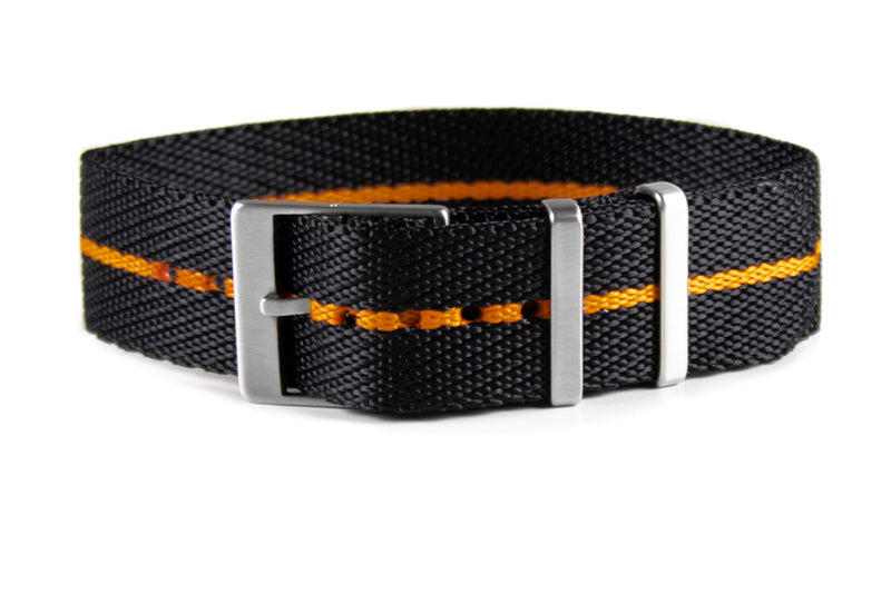 Adjustable Single Pass Strap Black and Orange