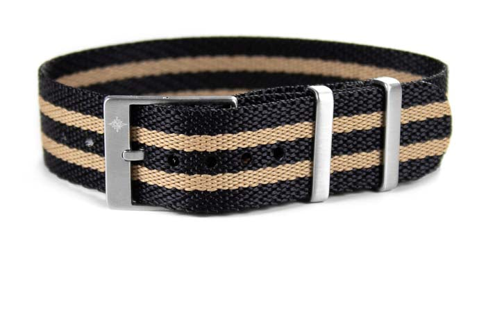 Adjustable Single Pass Strap Black and Tan