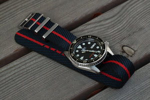 Adjustable Single Pass Strap Midnight and Red