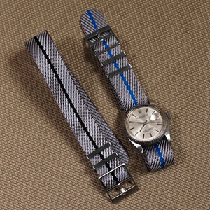 Adjustable Single Pass Strap Gray and Black