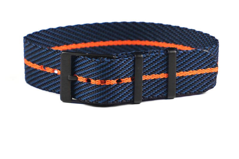 Adjustable PVD Single Pass Strap Midnight and Orange