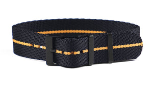 Adjustable PVD Single Pass Strap Black and Gold