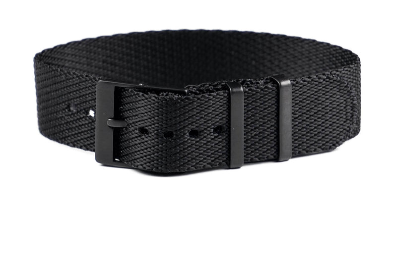 Adjustable PVD Single Pass Strap Black