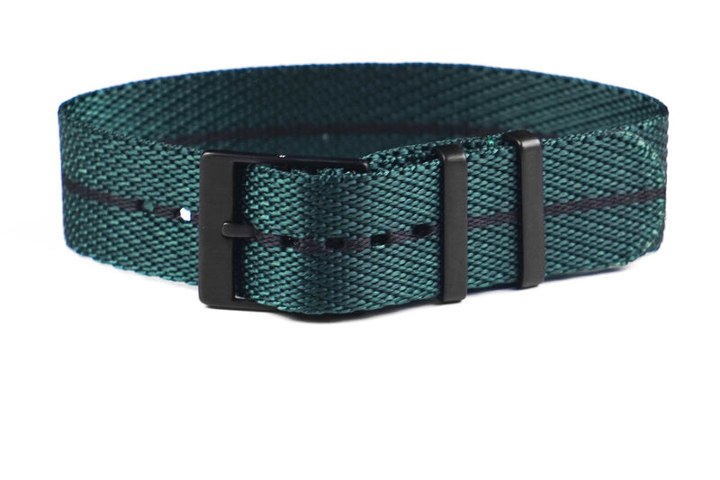 Adjustable PVD Single Pass Strap British Racing Green and Black