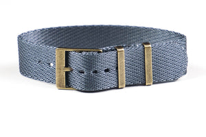 Adjustable Bronze Single Pass Strap Gray