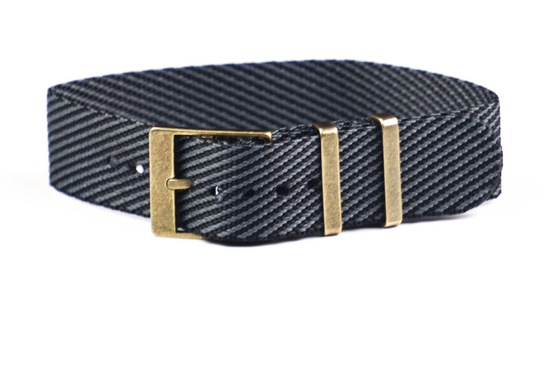 Adjustable Bronze Single Pass Strap Anthracite