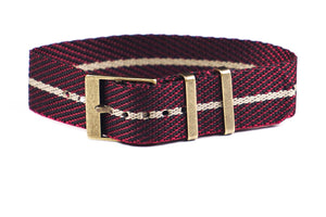 Adjustable Bronze Single Pass Strap Burgundy and Barley
