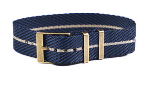 Adjustable Bronze Single Pass Strap Midnight and Barley