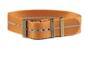 Adjustable Bronze Single Pass Strap Gold and Barley