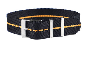 Adjustable Single Pass Strap Black and Gold