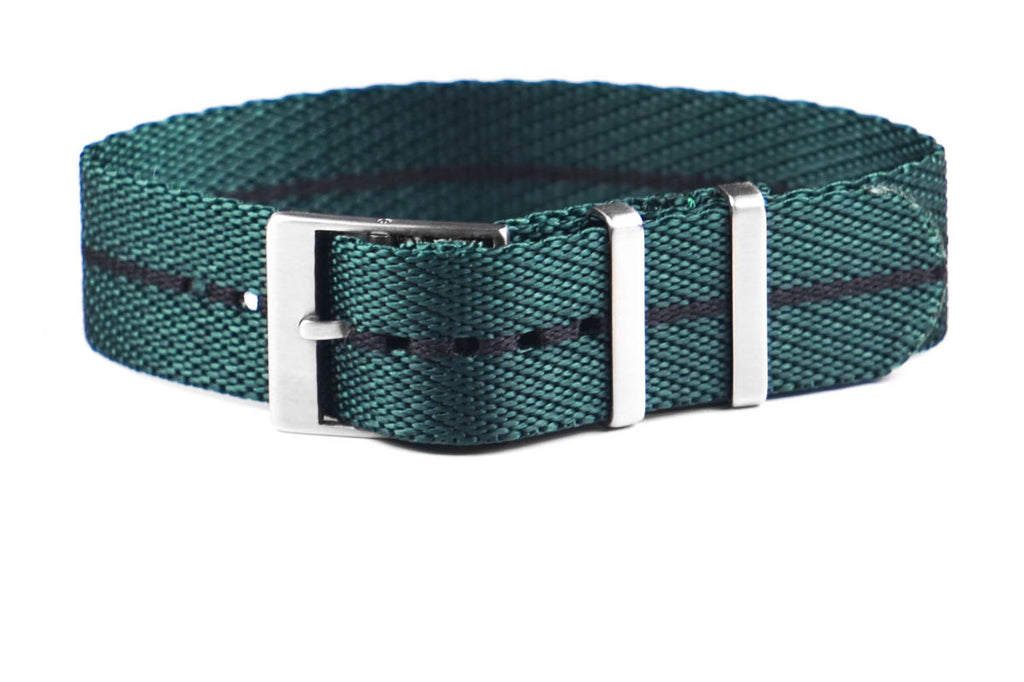 Adjustable Single Pass Strap British Racing Green and Black