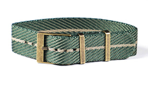 Adjustable Bronze Single Pass Strap Petrol and Barley