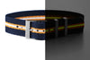 Adjustable Single Pass Strap Navy, Gold and Lume