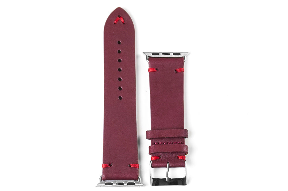 Apple Watch Strap Vintage Burgundy