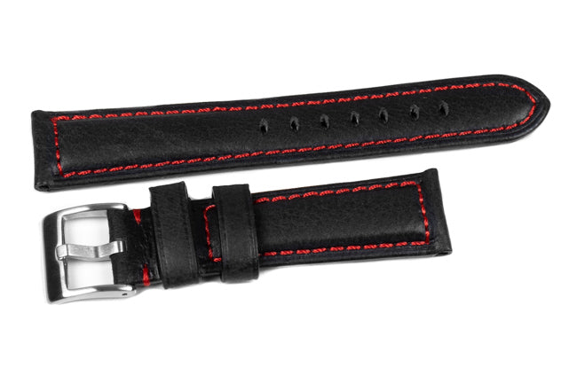 Bronco Black with Red stitching