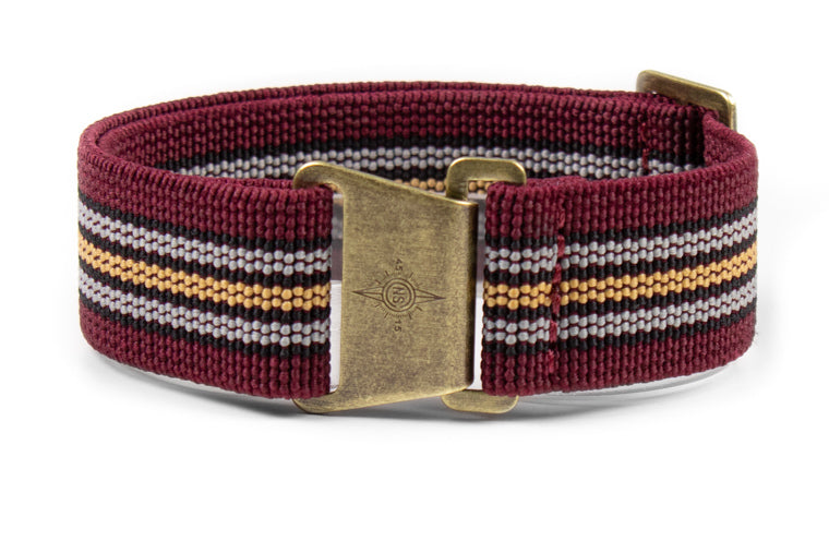 Bronze Marine Nationale Strap Burgundy Baron
