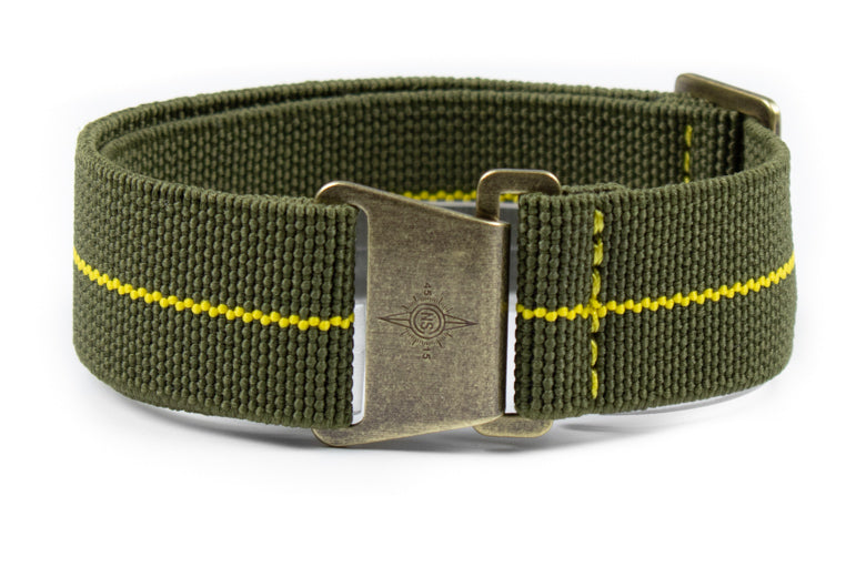 Bronze Marine Nationale Strap Khaki Green and Yellow
